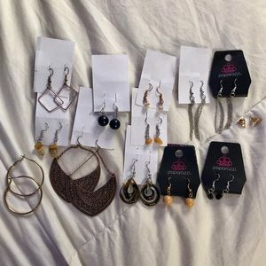 13 Piece Earrings Jewelry Lot Bundle Mix